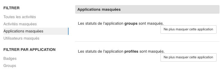 ApplicationsMasquees